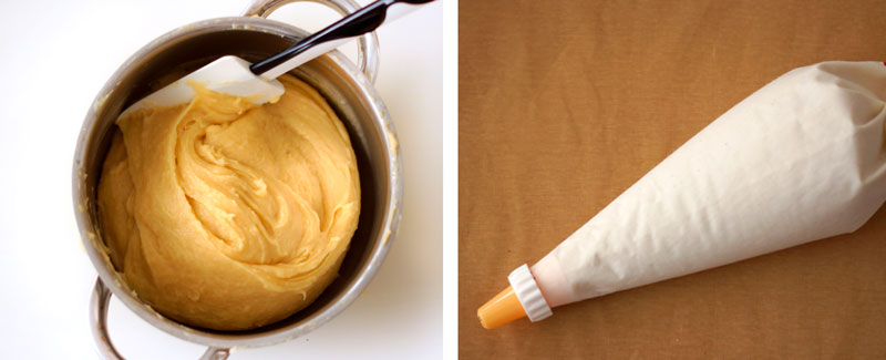 Pastry bag for perfect choux pastry recipe